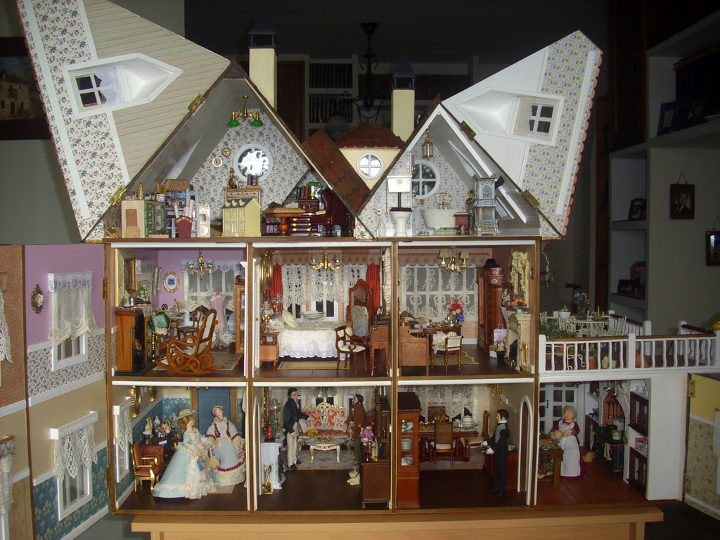 Miniaturas y materiales de construcci n casa de mu ecas - Como hacer casas en miniatura ...