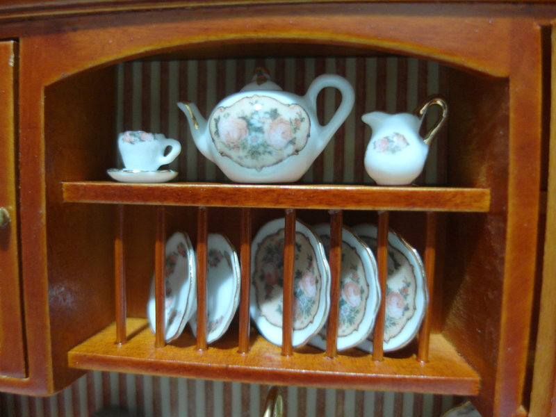 Aparador con fregadero 064 mundominiaturas - Fregadero de porcelana ...