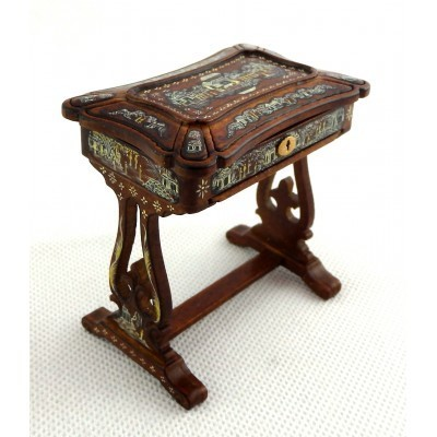 J5045- Japanned Sewing Box